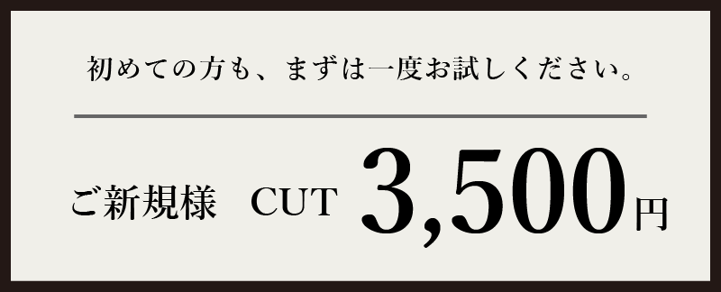 ご新規様3500円